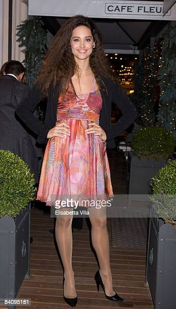 Clizia Fornasier attends 1528 Limited Edition perfume cocktail party at the Fleur shop on December 19 2008 in Rome Italy