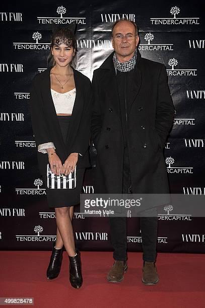Clizia Incorvaia and Salvatore Incorvaia attend the showing of 'Un'altra Storia' at Teatro Vetra on December 3 2015 in Milan Italy