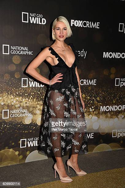 Clizia Incorvaia attends Fox Tv schedule presentation on November 30 2016 in Milan Italy