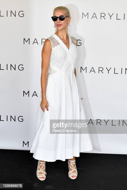 Clizia Incorvaia attends the Maryling show during Milan Fashion Week Spring/Summer 2019 on September 19, 2018 in Milan, Italy.