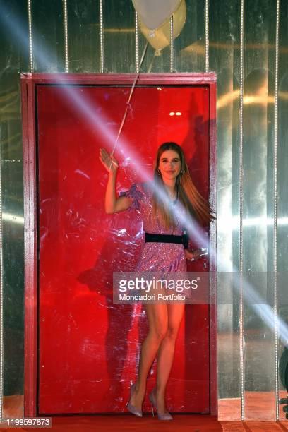 Clizia Incorvaia during first episode tv broadcast Grande fratello vip 4 in the Cinecittà studios. Rome , January 08th, 2020