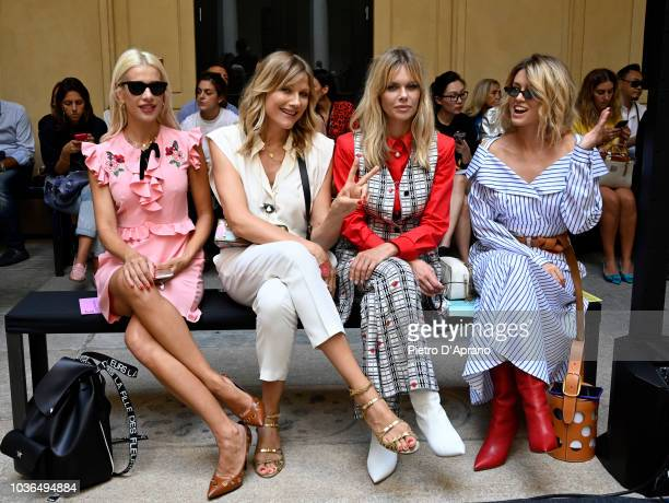 Clizia Incorvaia Natasha Stefanenko Barbara Snellenburg and Elena Barolo attend the Vivetta show during Milan Fashion Week Spring/Summer 2019 on...
