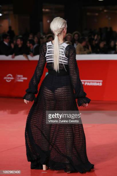Clizia Incorvaia walks the red carpet ahead of the Green Book screening during the 13th Rome Film Fest at Auditorium Parco Della Musica on October 24...