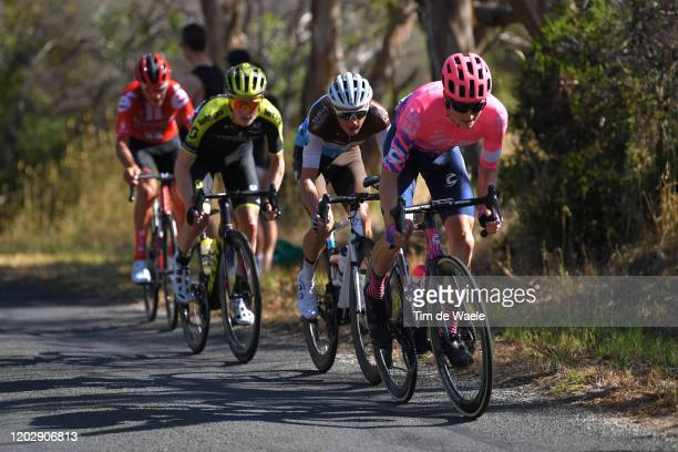 Clément Chevrier of France and Team AG2R La Mondiale / Nick Schultz of Australia and Mitchelton-Scott / Neilson Powless of The United States and Team...
