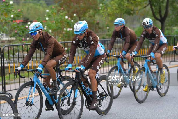 Clément Venturini of France and Team Ag2R La Mondiale / Alexis Vuillermoz of France and Team Ag2R La Mondiale / during the 2nd Tour of Guangxi 2018...