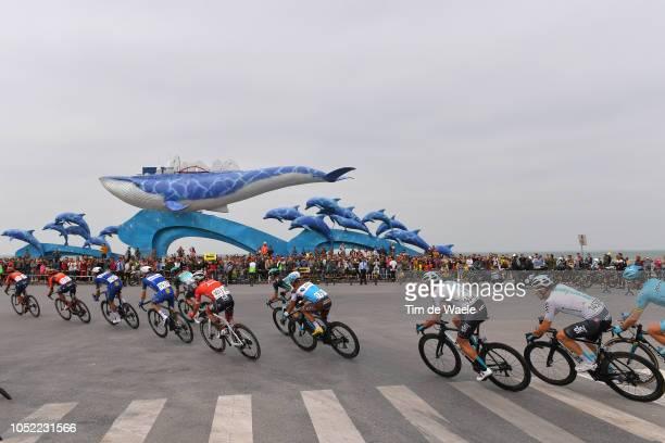Clément Venturini of France and Team Ag2R La Mondiale / David Lopez Garcia of Spain and Team Sky / Owain Doull of Great Britain and Team Sky / Beihai...
