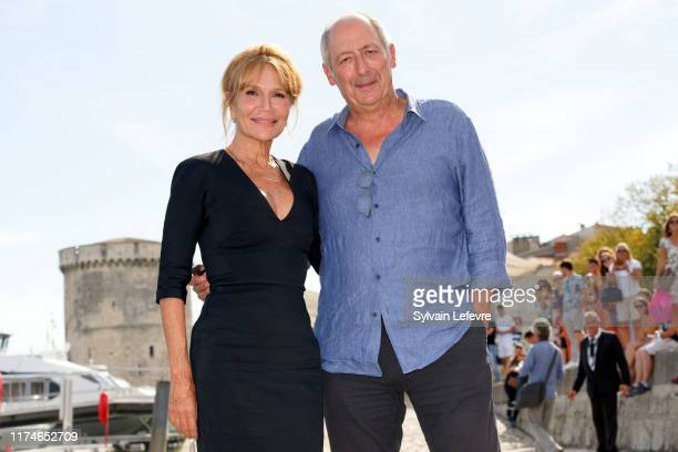 Clémentine Celarié and Sam Karmann attend the 21th Festival of TV Fiction At La Rochelle Day Four on September 14 2019 in La Rochelle France
