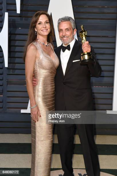 Clo Cohen and Charles Cohen attend the 2017 Vanity Fair Oscar Party hosted by Graydon Carter at Wallis Annenberg Center for the Performing Arts on...