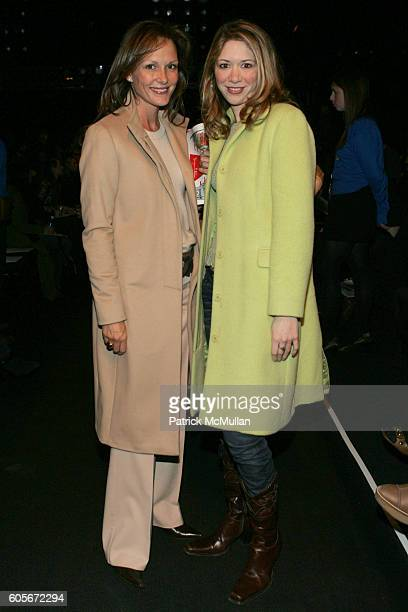 Clo Cohen and Melissa Berkelhammer attend Charles Nolan Fall 2006 Fashion Show at The Tent at Bryant Park on February 7 2006 in New York