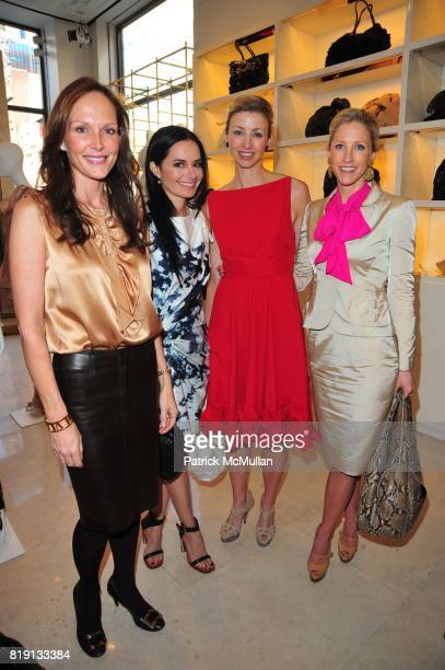 Clo Cohen Dr Lisa Airan Blair Husain and Sara Peterson attend VALENTINO Spring/ Summer 2010 Collection Private Luncheon and Presentation hosted by...