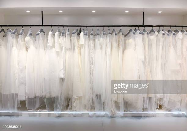 cloakroom - wedding dress stock pictures, royalty-free photos & images