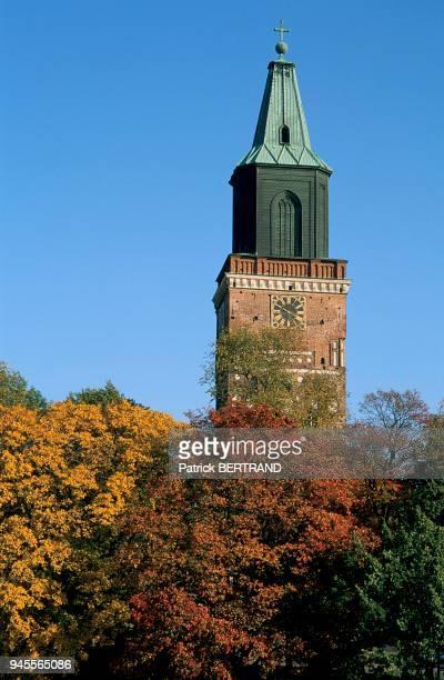 Clocher de la Cathedrale de Turku, Scandinavie, Finlande.