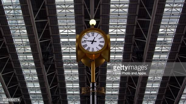 Clock and ceiling pattern of Osaka Station City