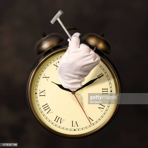 clock and hammer - ian gwinn stock photos and pictures