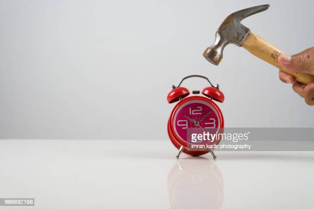 Clock and hammer