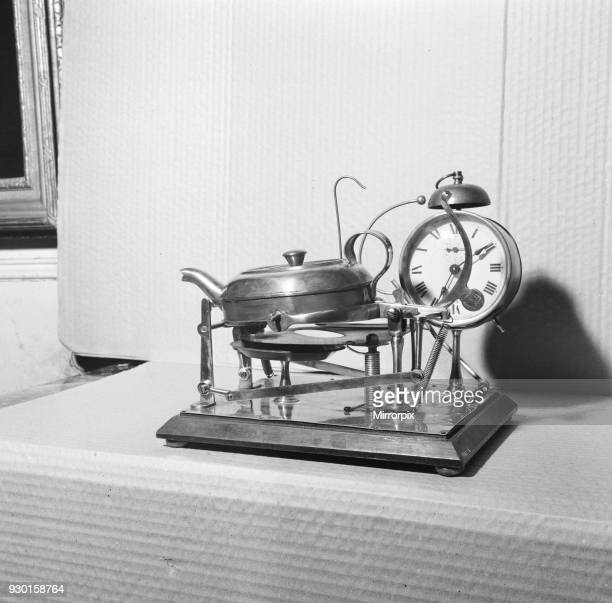 Clock and Kettle Tea Maker shown at The Fantasies and Follies Exhibition at Brighton Picture taken 27th April 1971