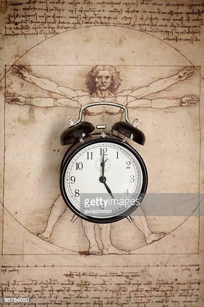 Réveil et L'Homme vitruvien