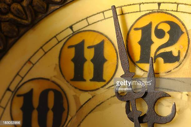 Clock at Almost 12 Midnight on New Years Eve