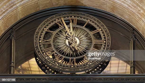 Clock at the Woolworth Building New York New York