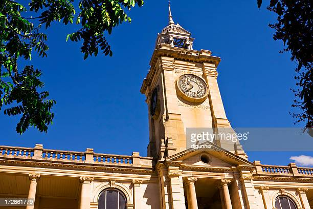 clock bell tower - australian politics stock pictures, royalty-free photos & images