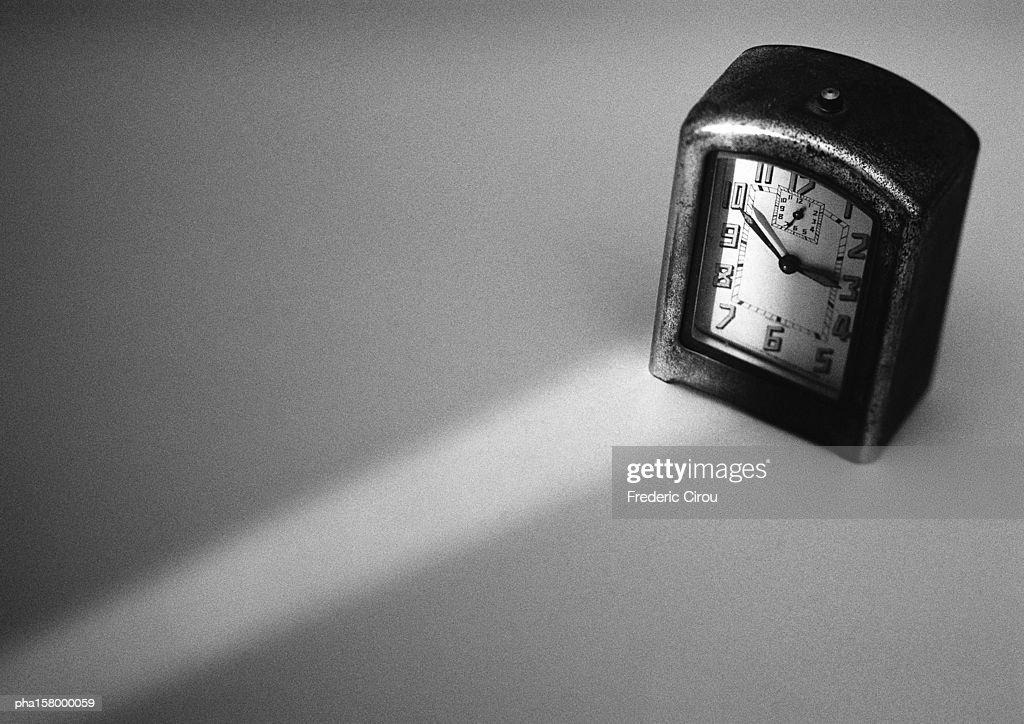 Clock, b&w. : Stockfoto