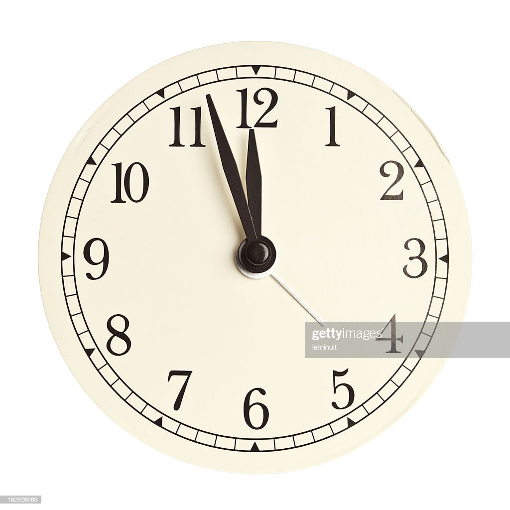 Clock face isolated : Stock Photo