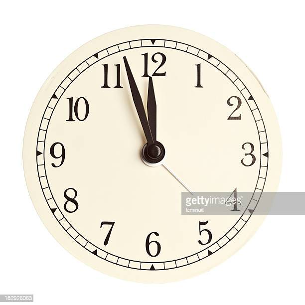 clock face isolated - 12 o'clock stock photos and pictures