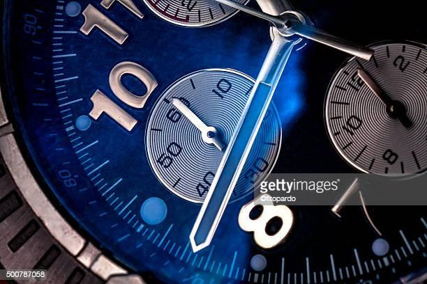 Clock face, macro, extreme close up