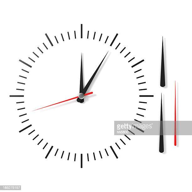 clock face - klok stockfoto's en -beelden
