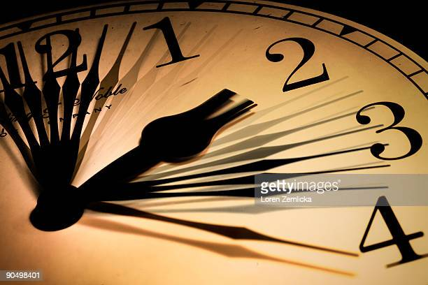 Clock Face Showing Moving Hands