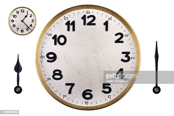 DIY clock face with hands