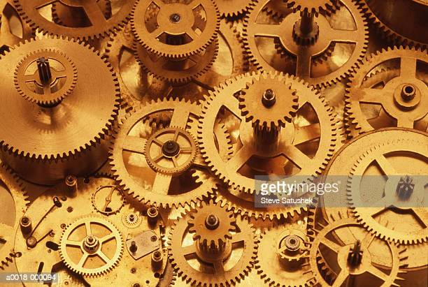clock gears - cog stock pictures, royalty-free photos & images