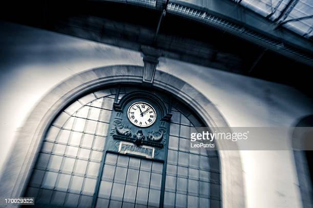 Clock in Porto Railway Sao Bento Station