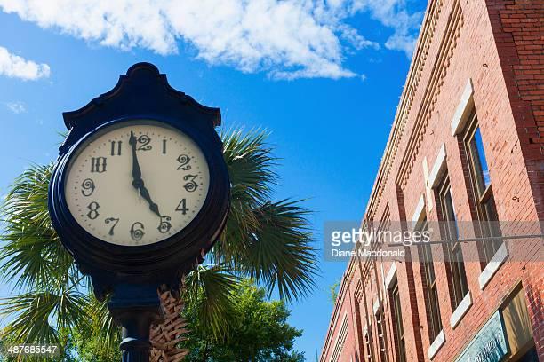 A clock in Valdosta, Georgia