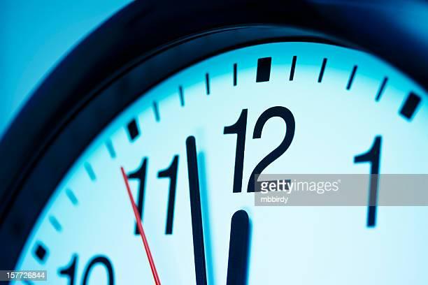 Clock. Just before deadline