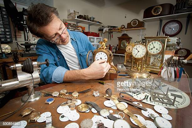 A clock maker and repairman, st. catharines, ontario, canada