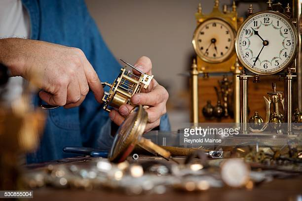 A clock maker and repairman, st. catharines, ontario, canada