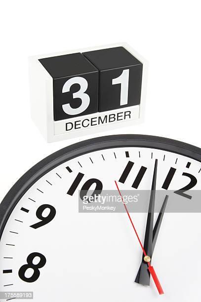 Clock Nears Midnight on New Year's Eve December 31