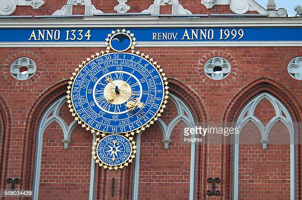 Clock Of The House Of The Blackheads Riga Latvia