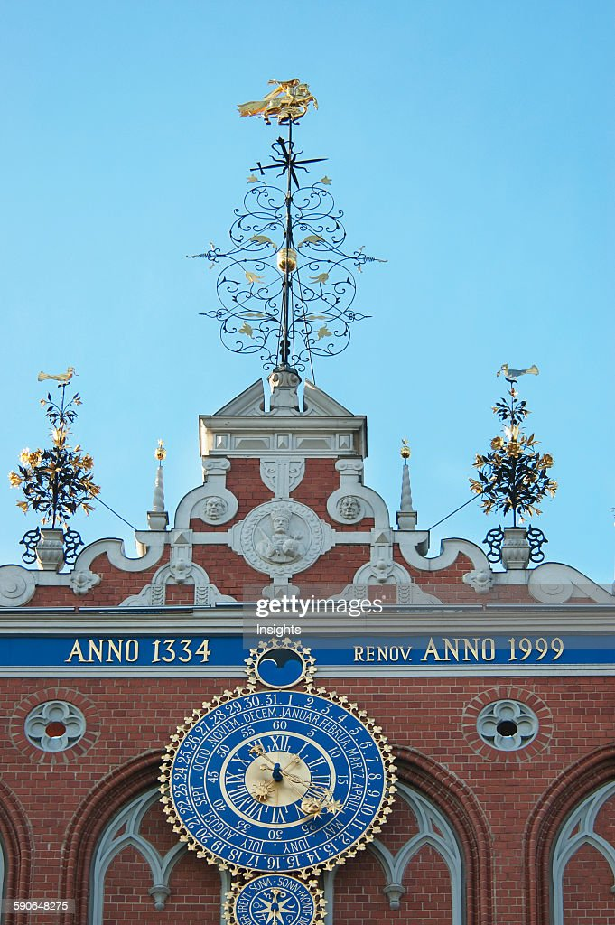 Clock Of The House Of The Blackheads. : News Photo