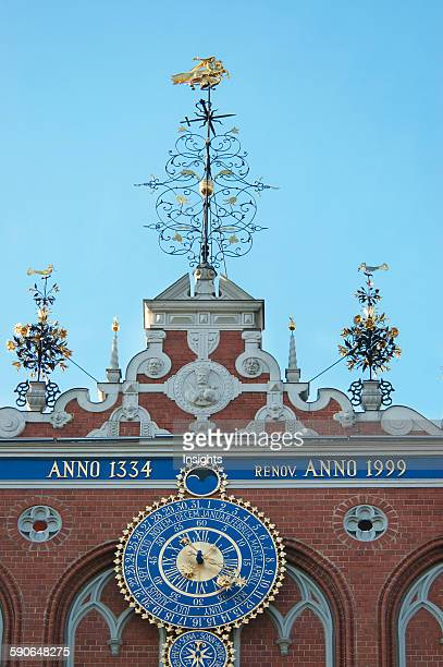 Clock Of The House Of The Blackheads Riga Latvia
