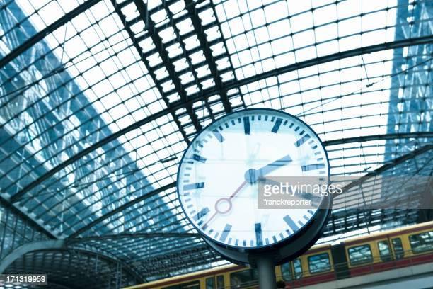 Clock on futuristic station - Germany