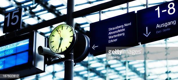 Clock on railway station