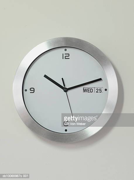 clock on wall - wall clock stock photos and pictures