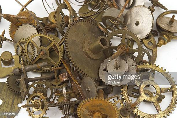 Clock Parts Cogs And Springs