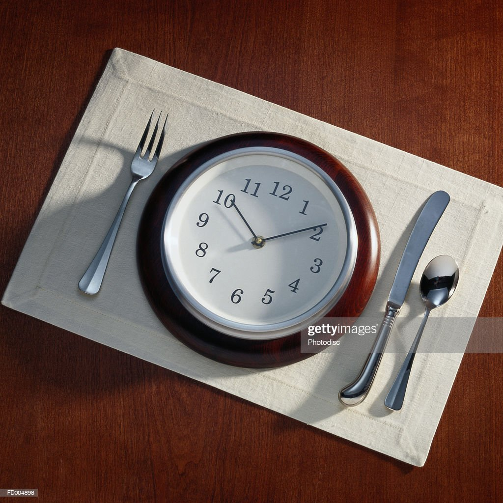 Clock Place Setting : Stock Photo