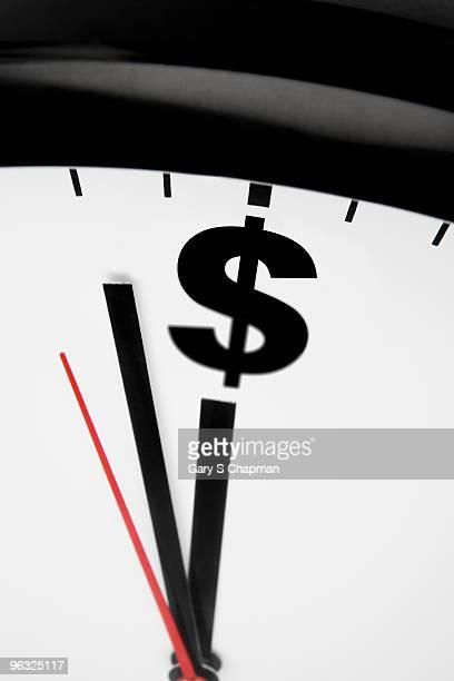 Clock striking dollar sign instead of midnight