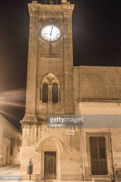 clock tower,  acaja (or acaya), lecce, salento, apulia, italy. - {{asset.href}} stock pictures, royalty-free photos & images