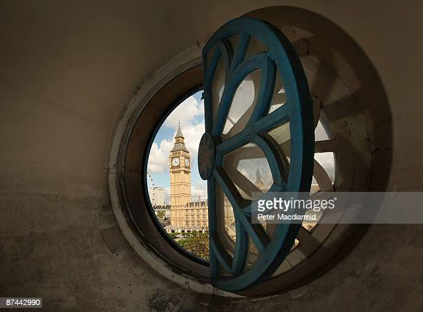 Clock Tower also known as Big Ben is visable from a window in the bell tower of St Margaret's Church on May 15 2009 in London St Margaret's Church...