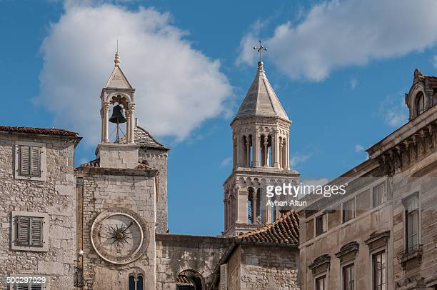 Clock tower and The Cathedral of St. Domnius,Split